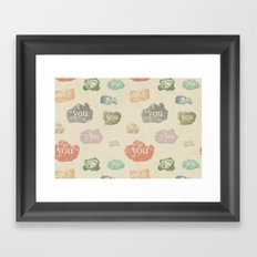 You Rock (Pattern) Framed Art Print