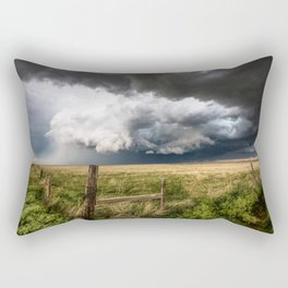 Aquamarine - Storm Over Colorado Plains Rectangular Pillow