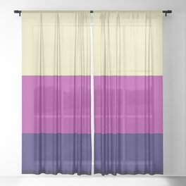 Classic Abstract Stripes Achird Sheer Curtain