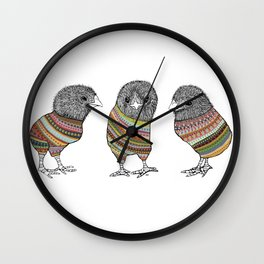 Baby chicken knit Wall Clock