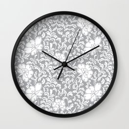 Japanese garden in grey Wall Clock