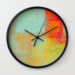 awash - abstract painting Wall Clock