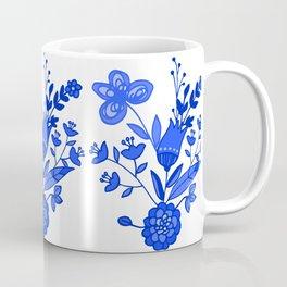 Blue &White Floral Coffee Mug