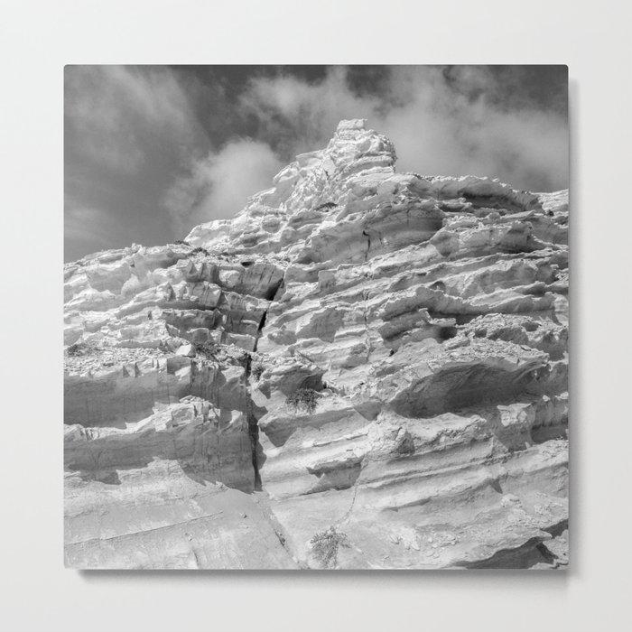 ISLAND STORIES 20 Rocky Black and White Metal Print