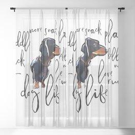 Dog Life Sheer Curtain
