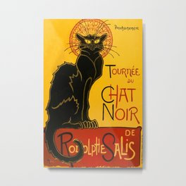 Vintage Le Chat Noir Paris Black Cat Cabaret Metal Print