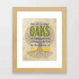 Isaiah 61 Print Framed Art Print