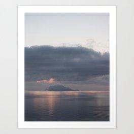 sunrise over the sea, sicily Art Print