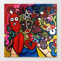 inner demons Canvas Prints featuring Her Inner Demons by TB8S Design