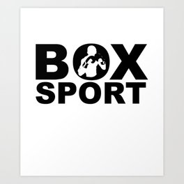 Boxer, martial art, sport Art Print