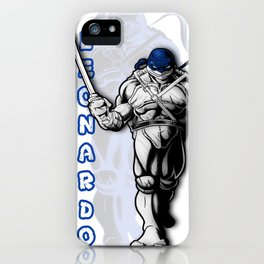 Teenage mutant ninja turtles Leo shirt iPhone Case