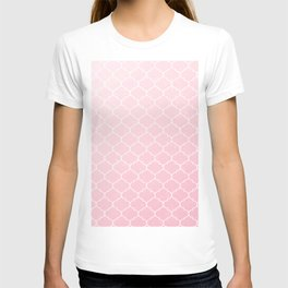 Pink Lattice Pattern T-shirt