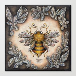 Crystal bumblebee Canvas Print