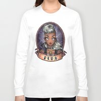 pinup Long Sleeve T-shirts featuring PUNK pinup by Tim Shumate