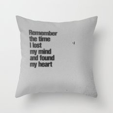 Remember The Time... Throw Pillow
