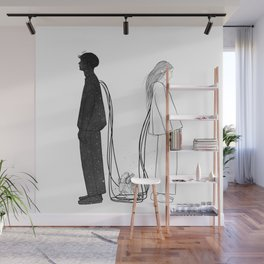 Hurt and love. Wall Mural