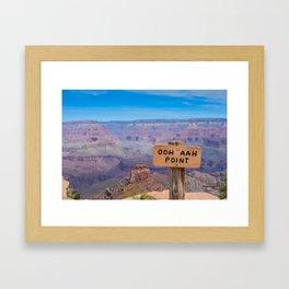 Ohh Ahh Point on South Kaibab Trail Framed Art Print