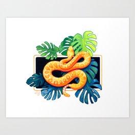 Snake Monstera 1 Art Print