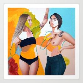Brooke and Jana Art Print