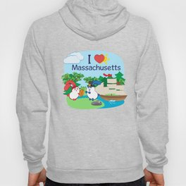 Ernest and Coraline | I love Massachusetts Hoody