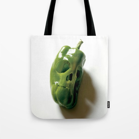 87. Bell Pepper Skull Tote Bag