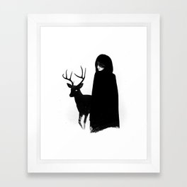 Absentia in white Framed Art Print