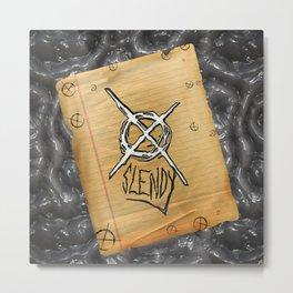 Slenderman note Metal Print