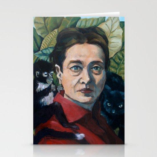 Simone DeBeauvoir Stationery Cards