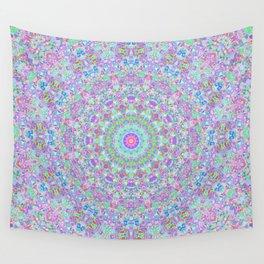 Groovy Trippy Colorful Boho Hippie Mandala 3 Wall Tapestry