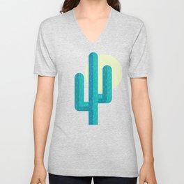 Pink Cactus Unisex V-Neck
