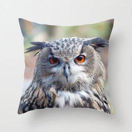 Eurasian Eagle-Owl, Uhu Throw Pillow
