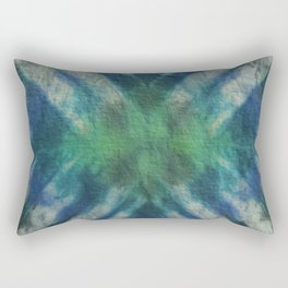 Tie Dye in Blue and Green 15 Rectangular Pillow