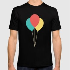 #45 Balloons Black SMALL Mens Fitted Tee