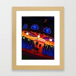 Carousel , Oil Painting Framed Art Print