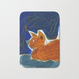 Socca Ginger Cat Art Bath Mat