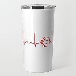 BASKETBALL HEARTBEAT Travel Mug