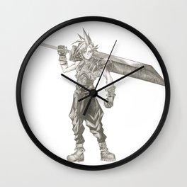 Cloud Strife Final Fantasy VII Wall Clock