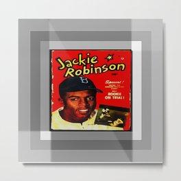 JACKIE ROBINSON/VINTAGE/BASEBALL Metal Print