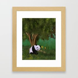 Cute Panda Framed Art Print