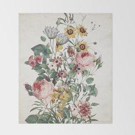 Romantic Garden Throw Blanket