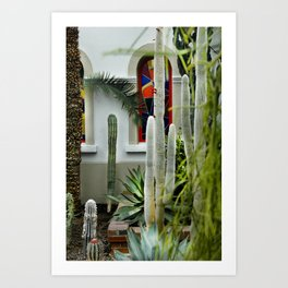 "L'Hacienda à Montreal ou l'Argentine "" cactus, agave, silver castus"" Art Print"