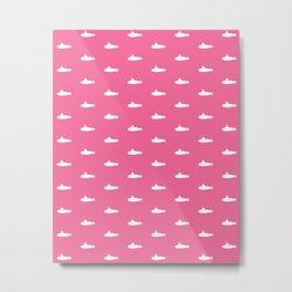 Tiny Subs - Pink Metal Print