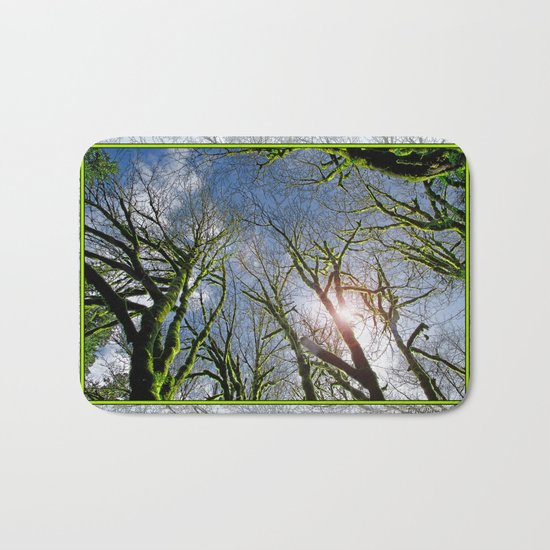 RAIN FOREST MAPLES REACHING FOR THE SKY Bath Mat