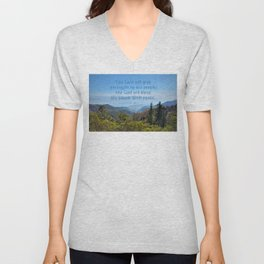 The Lord will give peace Unisex V-Neck