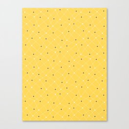 Chemistry Class Doodles - Yellow Canvas Print