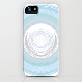 Ebb and Flow - Aqua iPhone Case
