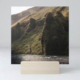 Skogafoss Surroundings Mini Art Print