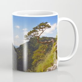 Pine tree at the Dunajec Canyon on the Polish border Coffee Mug