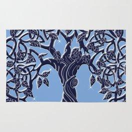 Tree of Life Blue Rug