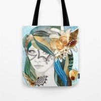 aqua Tote Bags featuring Aqua by Jenndalyn